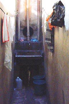 Local em que faxineiros da FFLCH fazem a manutenção de seus materiais (foto: Bruna Escaleira)