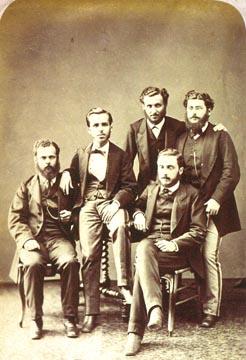 Retrato de estudantes em 1879 (foto: Militão Augusto de Azevedo/Acervo Museu Paulista)