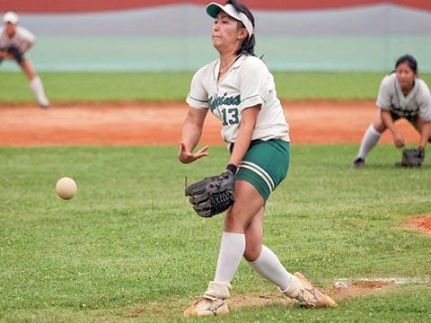 Carolina Kita, atleta da Medicina, foi escolhida a melhor jogadora da final (foto: Yuri Gonzaga)