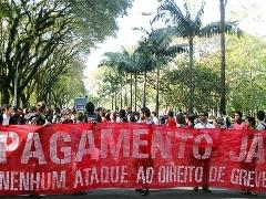Adusp oferece apoio a grevistas após corte de ponto (foto: André Lucas)
