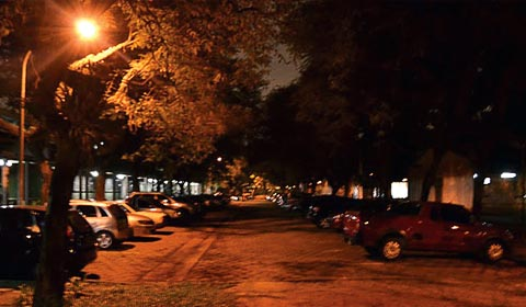 Estacionamento da FEA, onde ocorreu um dos casos de sequestro relâmpago (foto: Cleyton Villarino)