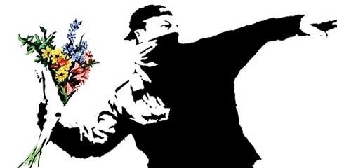 Riots: fizeram barulho e mais o quê? (Reprodução de arte de Banksy)