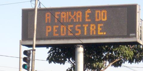 CET incentiva reeducação no trânsito de SP (foto: Carolina Linhares)