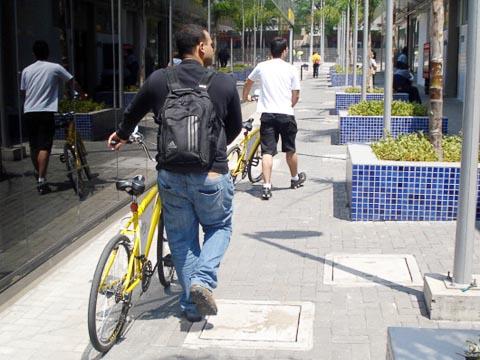 Apesar dos problemas, Pedalusp é bem utilizado (foto: Bruno Capelas)