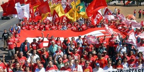 Manifestação da CUT em 2007 (foto: Valter Campanato/ABr)