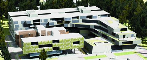 Em prédio verticalizado, a nova sede da Escola de Comunicações e Artes prevê a integração dos departamentos, mas os divide em seis andares (Foto: Superintendência de Espaços Físicos)