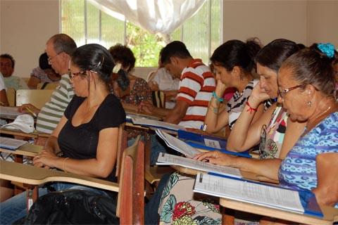 """Educadores participam de formação ministrada pelo programa """"Escravo Nem Pensar"""" em Rio Maria, no Pará (foto: Divulgação/Programa """"Escravo Nem Pensar"""")"""