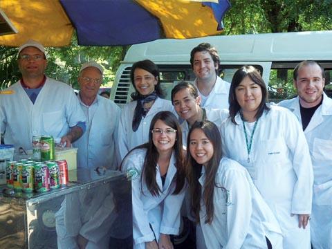 Equipe do PESA em visita técnica ao Super Dog (foto: Jéssika Morandi)