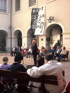 Lançamento da campanha por uma Comissão da verdade da USP, lançado no último dia 24, em Ato dos Juristas, na Faculdade de Direito (foto: Alessandra Goes Alves)