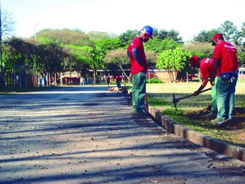 Obras na pista de atletismo já estão em andamento (foto: Gustavo Pessutti)