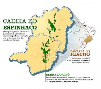 Cadeia do Espinhaço (infográfico: Vinícius Pereira)