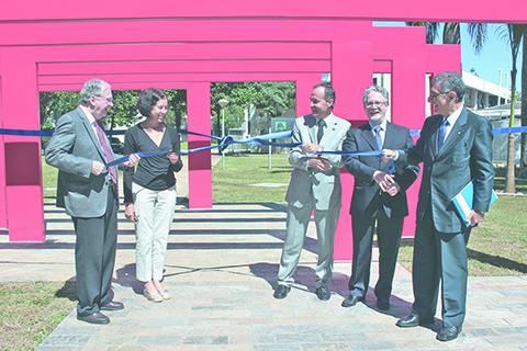 Professores revivem inauguração da EESC em comemoração aos 60 anos. Foto: EESC/Divulgação
