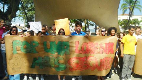 Protesto por segurança foi realizado pelos estudantes no dia 1º de maio. Foto: Diretório Acadêmico.