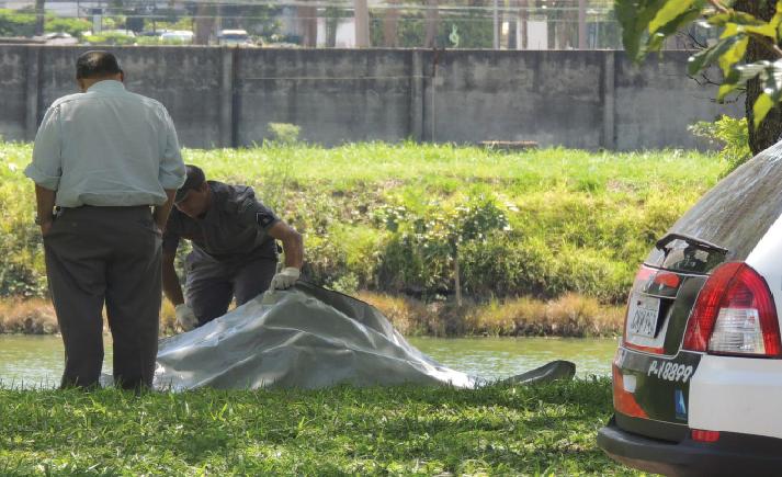 Corpo de Everaldo Miranda foi encontrado por volta das 10 horas no dia 25 de fevereiro (Foto: Gabriella Feola)