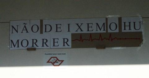 Protesto contra a desvnculação do Hospital Universitário (Foto: Pedro Passos)