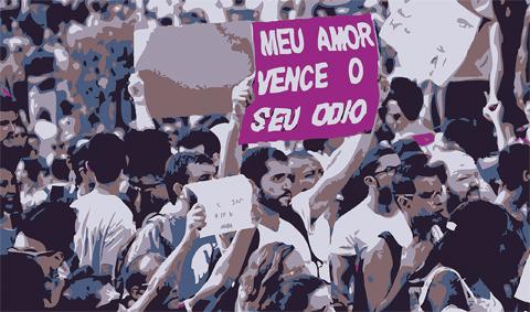 Criminalização da homofobia é apenas uma das demandas de grupos que lutam contra o preconceito e a intolerância (Foto: Fora do Eixo)