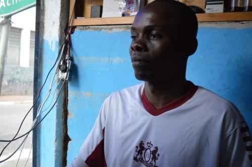 Jean Katumba fala sobre sua experiência de viver no Brasil como refugiado (Foto: Juliana Fontoura)