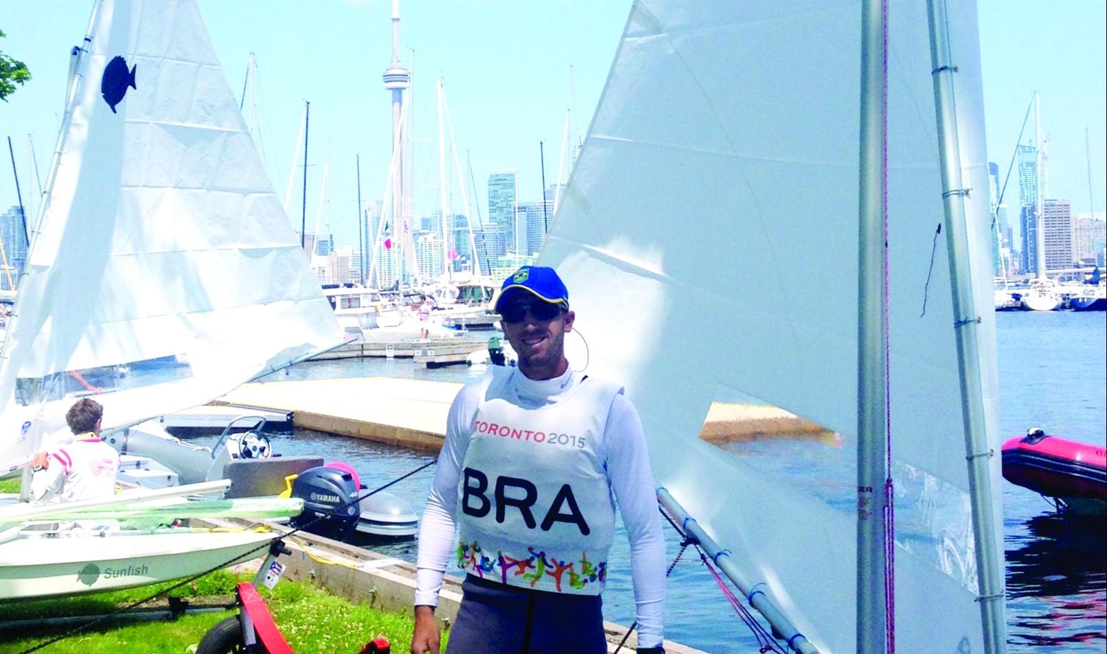 João Hackerott, meteorologista e velejador, representou o Brasil nos Jogos Pan-Americanos 2015