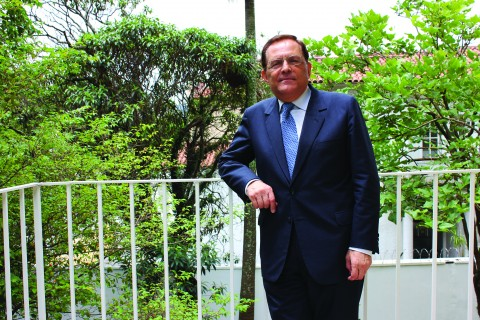 O ex-reitor Rodas recebeu o Jornal do Campus no CEDES (Centro de Estudos de Direito Econômico e Social), nos Jardins. (foto: Jessica Bernardo)