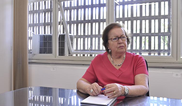Diretora Margarida Kunsch relembra história da ECA (foto: Luiza Magalhães)