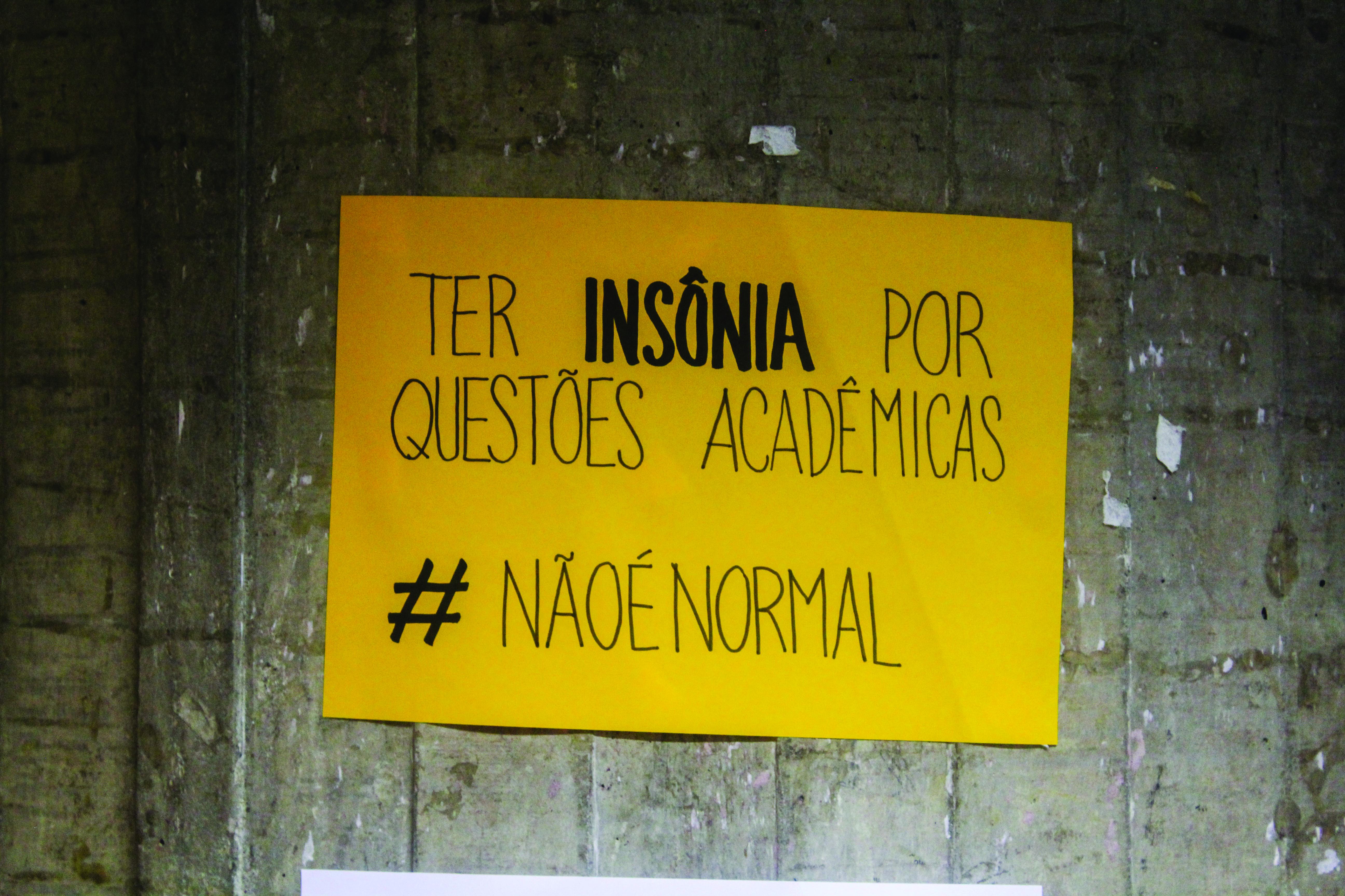 Ter insônia por questões acadêmicas (Foto: Ana Luisa Moraes)