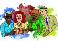 Músicas de ícones do samba como Cartola, Beth Carvalho, Dona Ivone Lara e Noel Rosa  são conhecidos pelos jovens. (Ilustração: Guilherme Caetano)