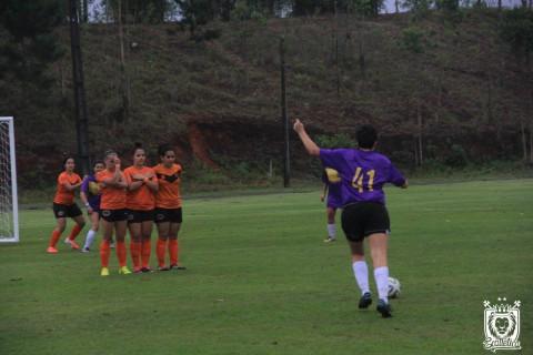 O futebol de campo feminino estreou como modalidade demonstrativa no BIFE em 2016. Foto: Pietro Portugal